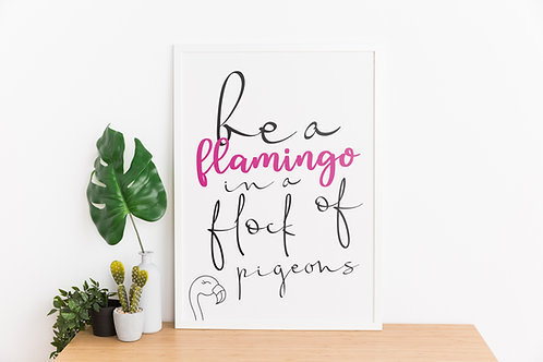 Flamingo A4 Print