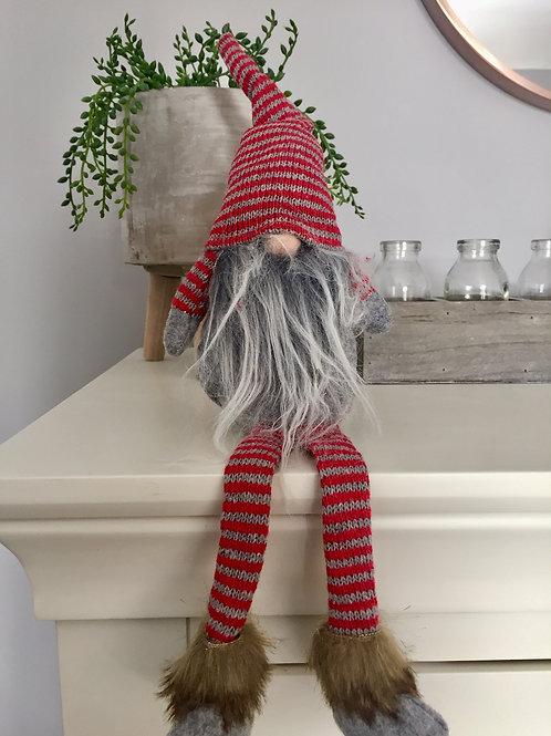 Red & Grey Hanging Legs Gonk