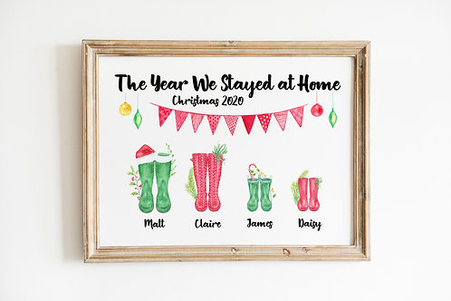 The Year We Stayed at Home A4 Print