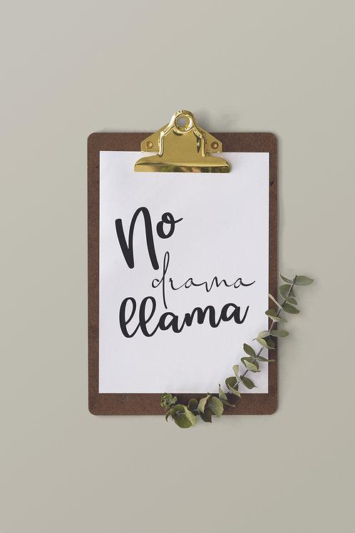 No drama llama A4 Print