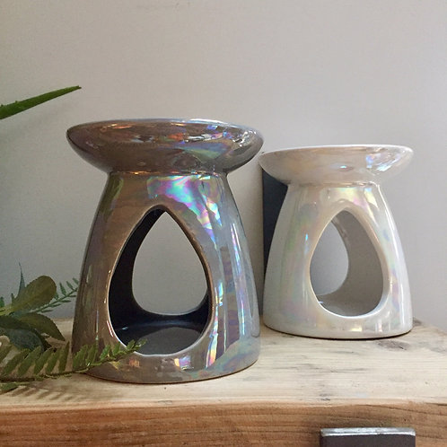 Grey Pearl Finish Oil/Wax Burner
