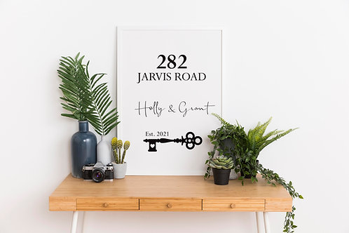 Personalised New Home A4 Print