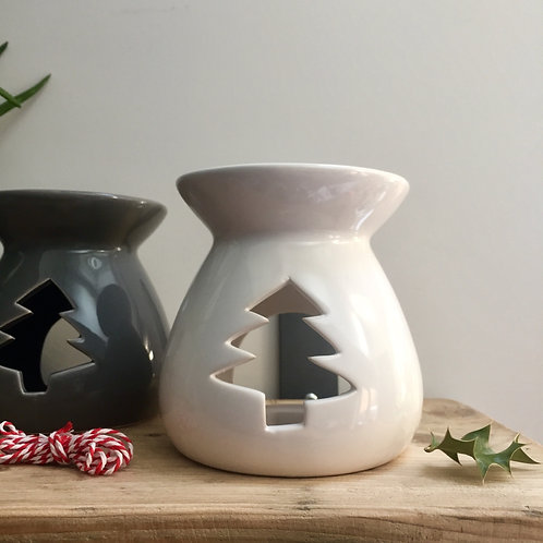 White Christmas Tree Cut out Wax/Oil Burner