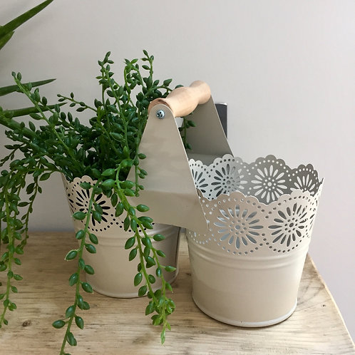 Metal Double Lace Planter