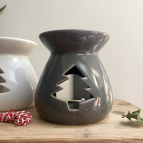 Grey Christmas Tree Cut out Wax/Oil Burner