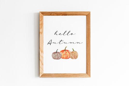 Hello Autumn A4 Print