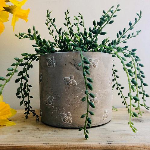 Concrete Bee Planter // Sass & Belle