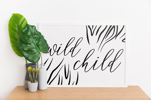 Wild Child A4 Print