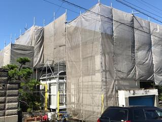 東海市T様邸シリコン塗装開始