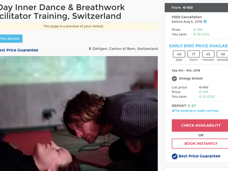 Inner Dance Breathwork Autumn fitness, immersion and facilitator training & New website!