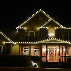 Two Story Roof Line C9 Warm White  Lighting