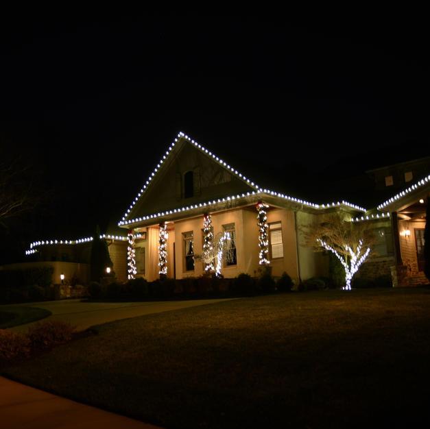 Roof Line and Pillar Garland Lighting
