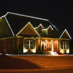 Roof & Ridge Line lighting with Landscape Outline