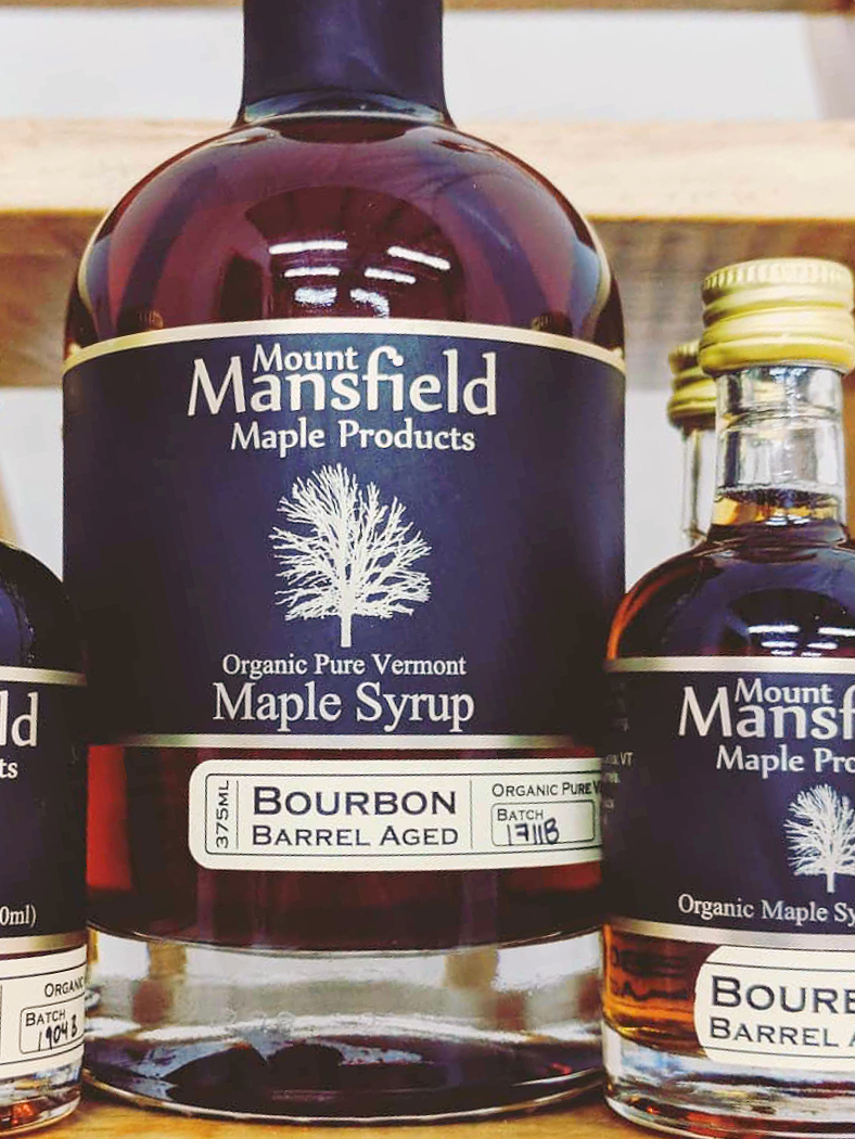 Mount Mansfield Maple Products Organic Bourbon Barrel Aged Vermont Maple Syrup