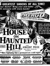 The House on the Haunted Hill (1959, Willliam Castle)