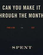 Spent (2011, Games for Change / Urban Ministry of Durban)