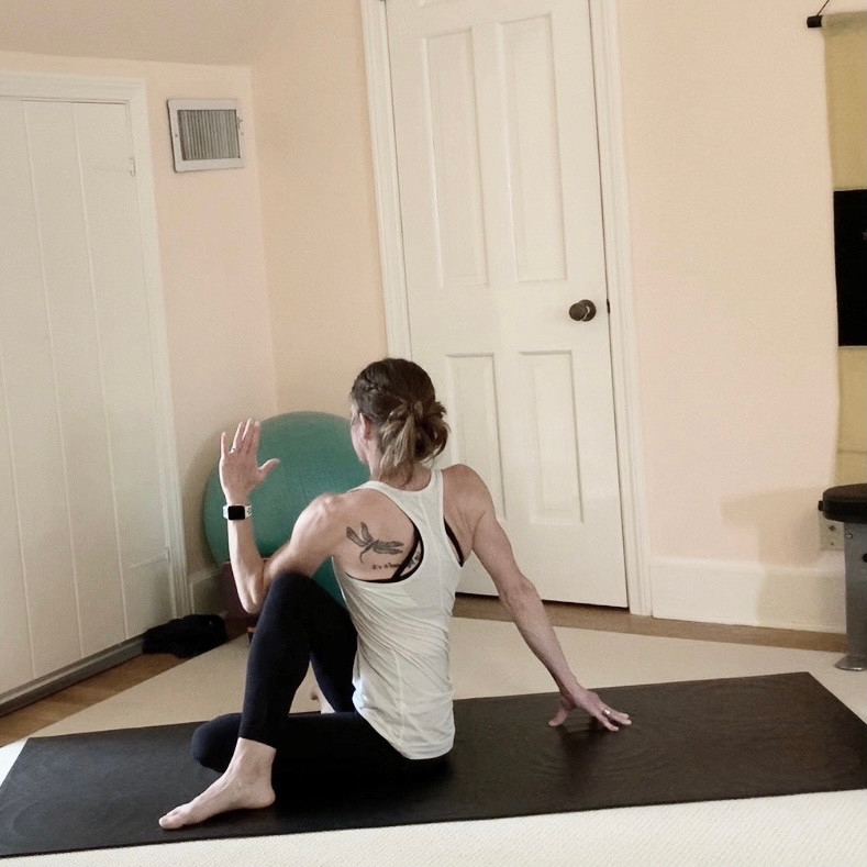 outer hip and glute stretch