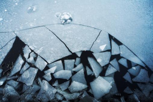 a cracking ice sheet