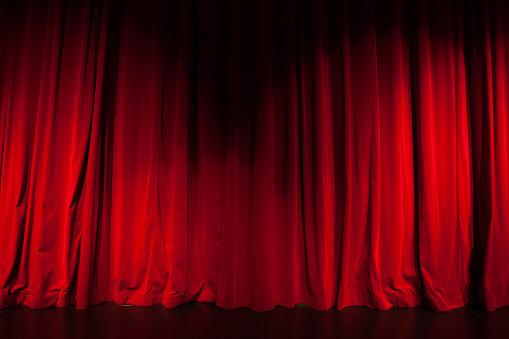 a red theatre cutrain