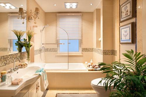 EP01-Semi-Frameless Bathtub Shower Screen