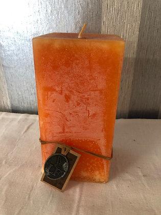 Vela color naranja cuadrada 13729