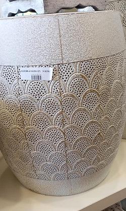 Mesa taburete metal mediano