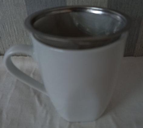 Mug loza blanco
