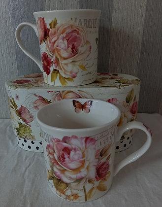 Mug porcelana set 2