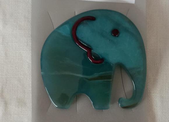 Broche resina variado elefante