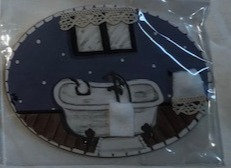 Placa madera baño