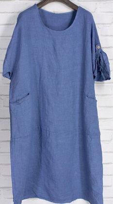 Vestido lino azul vaquero G98679