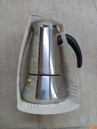 Cafetera acero  4 tazas