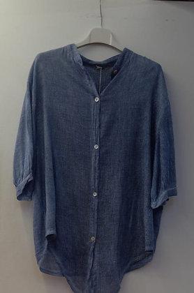 Camisa azul con hilo en plata g20166