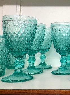 Set 6 copas verdes agua