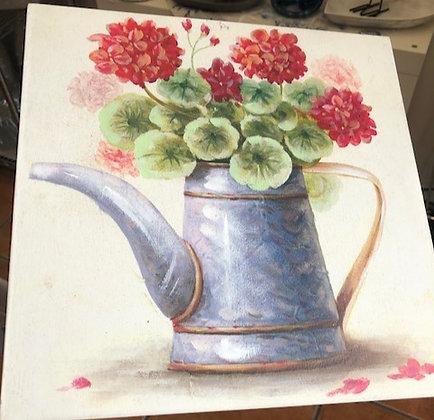 cuadro madera flores colores 2