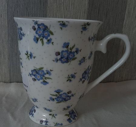 Mug porcelana flores azules