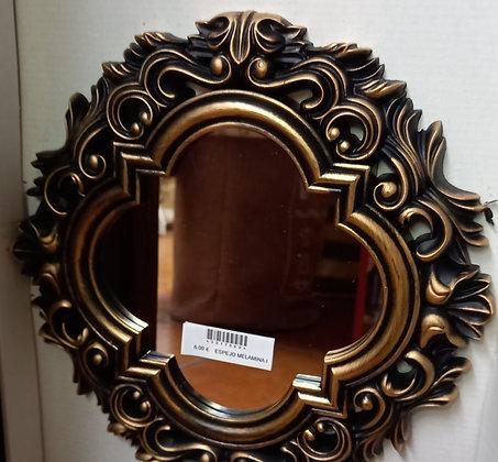 Espejo cristales marrón y dorado clasic