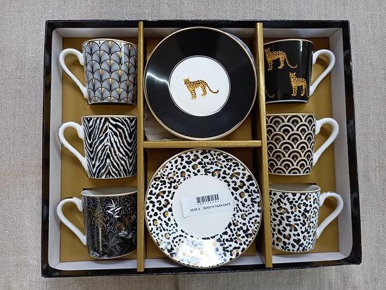 Juego cafe porcela set 6