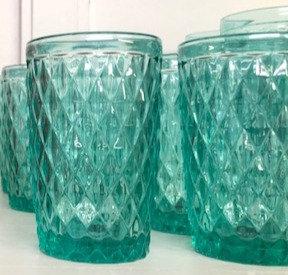 Set 6 vasos verde agua