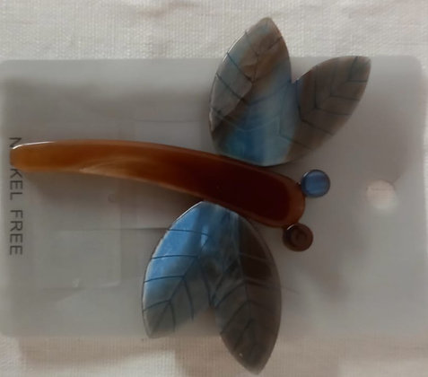 Broche chic libelula azul