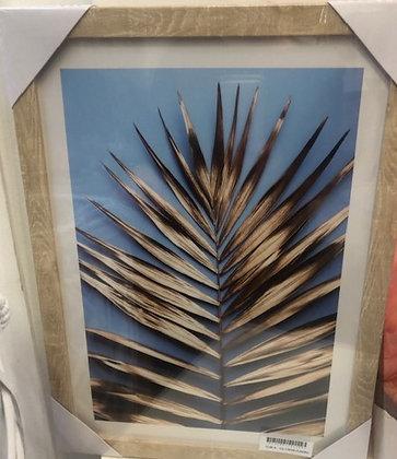 Cuadro  hoja palmera 2