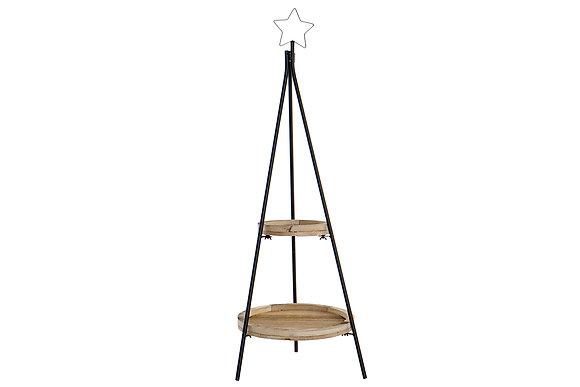 Arbol madera y metal