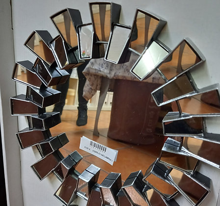Espejo cristales plateado