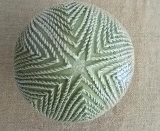 Bola resina verde agua variada