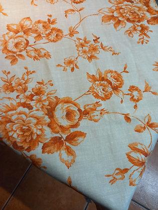 Camino de mesa flores naranja