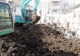解体工事がはじまった隣地の一部を建売会社から買収