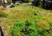 永住する予定で購入した土地、相模湾と伊豆大島が眺望でき、とても日当たりの良い場所です