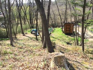 有機栽培の畑を作り楽しんでいました、自宅を建てる事も可能です