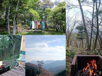 プライベートキャンプができる自然豊かな佐久高原の土地、山小屋付きです