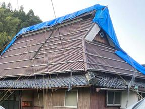 台風で屋根が一部飛んでしまい売りに出すことに、コロナ禍で様子を見ながらも良いご縁が得られて感謝しています
